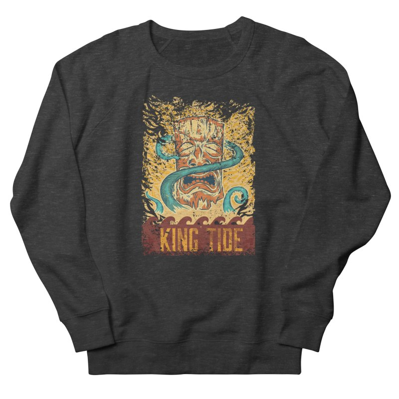 King Tide Men's French Terry Sweatshirt by Zerostreet's Artist Shop