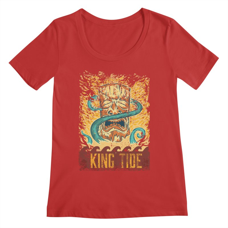 King Tide Women's Regular Scoop Neck by Zerostreet's Artist Shop