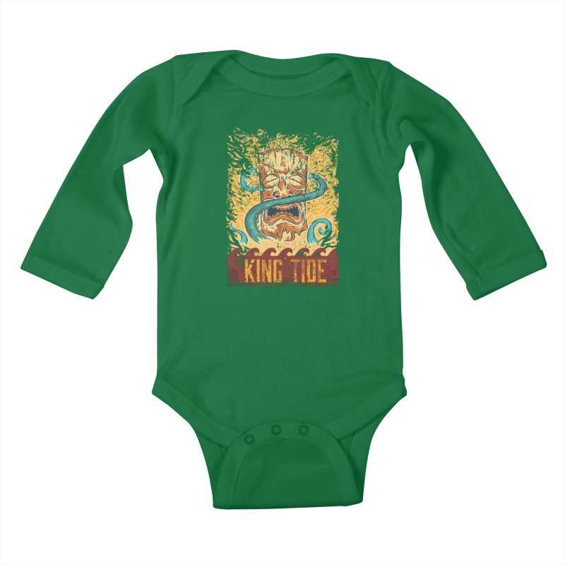 King Tide Kids Baby Longsleeve Bodysuit by Zerostreet's Artist Shop