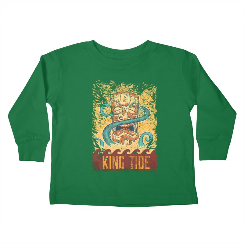 King Tide Kids Toddler Longsleeve T-Shirt by Zerostreet's Artist Shop
