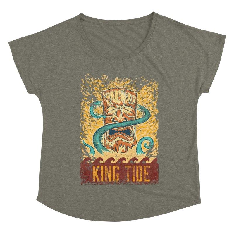 King Tide Women's Dolman Scoop Neck by Zerostreet's Artist Shop