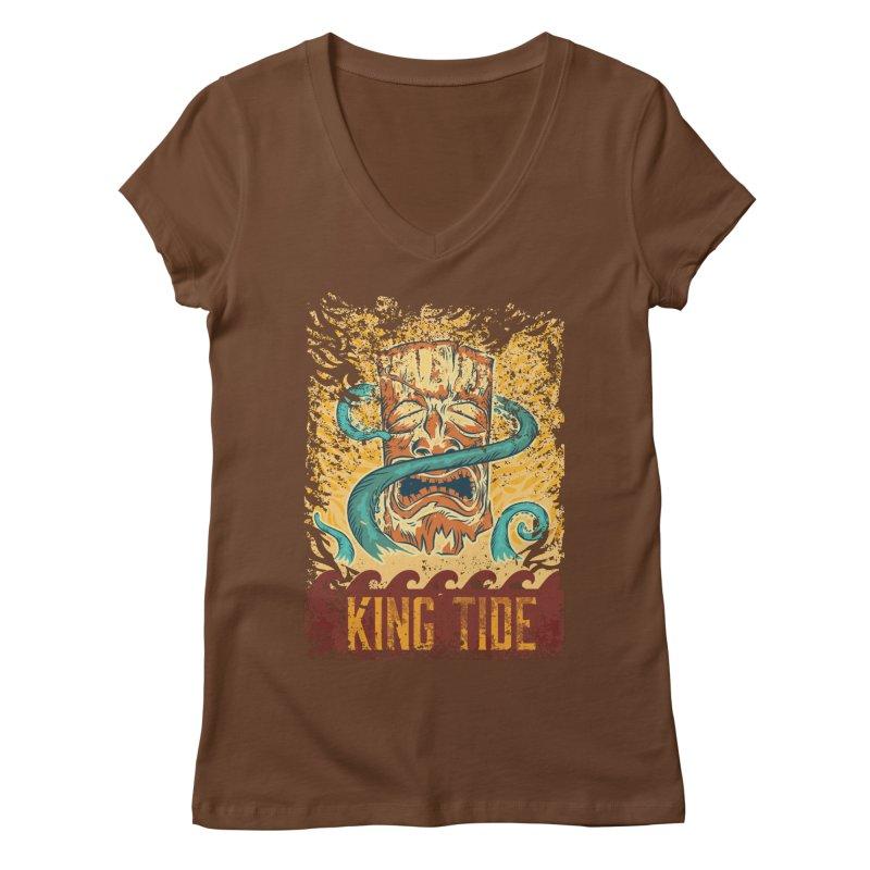 King Tide Women's Regular V-Neck by Zerostreet's Artist Shop