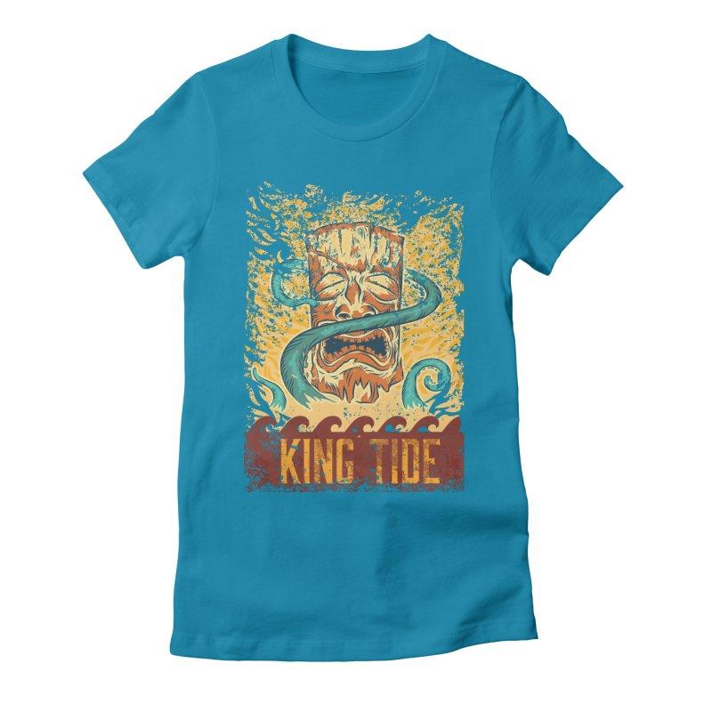 King Tide Women's Fitted T-Shirt by Zerostreet's Artist Shop