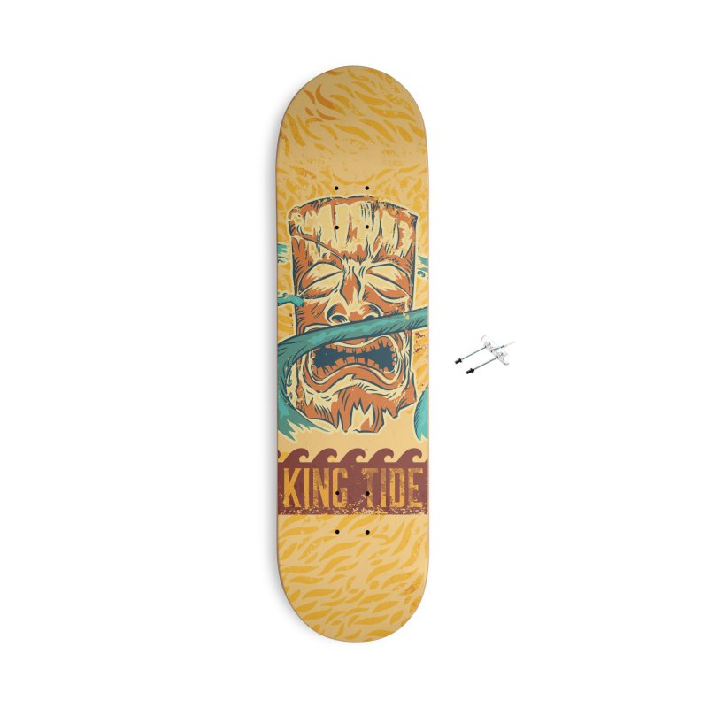 King Tide Accessories With Hanging Hardware Skateboard by Zerostreet's Artist Shop