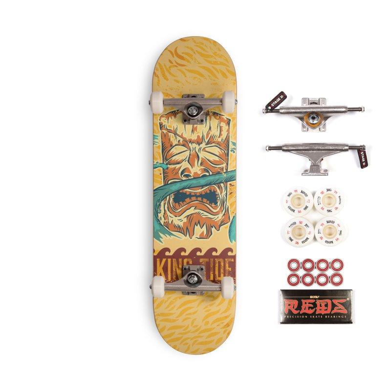 King Tide Accessories Complete - Pro Skateboard by Zerostreet's Artist Shop
