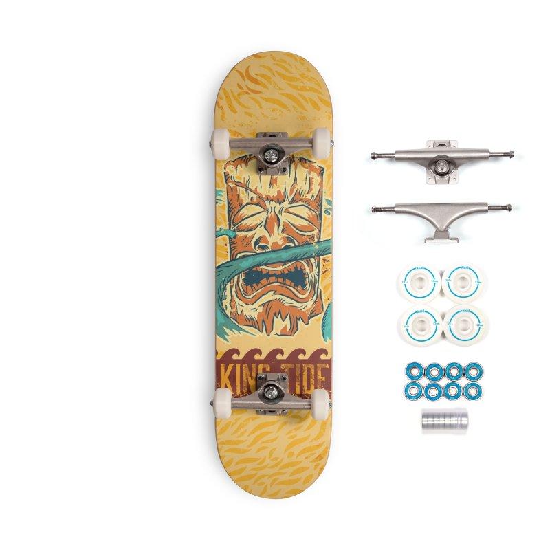 King Tide Accessories Complete - Basic Skateboard by Zerostreet's Artist Shop