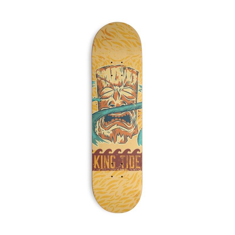 King Tide Accessories Deck Only Skateboard by Zerostreet's Artist Shop