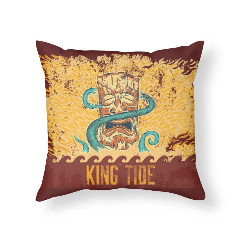 King Tide Home Throw Pillow by Zerostreet's Artist Shop