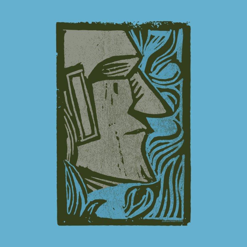 Wood Cut Moai Men's T-Shirt by Zerostreet's Artist Shop