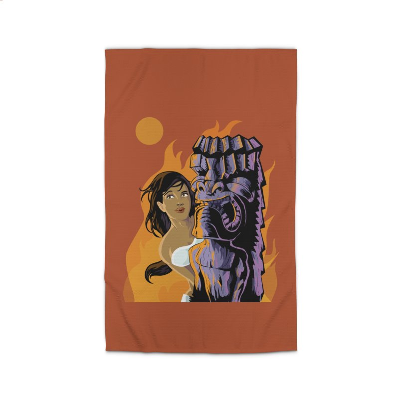 Wahine, Moon And Fire Home Rug by Zerostreet's Artist Shop