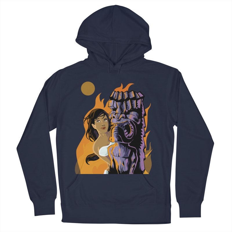 Wahine, Moon And Fire Women's Pullover Hoody by Zerostreet's Artist Shop