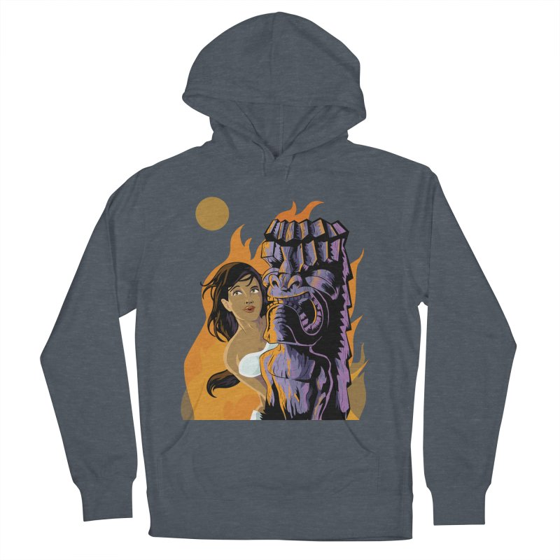 Wahine, Moon And Fire Men's Pullover Hoody by Zerostreet's Artist Shop