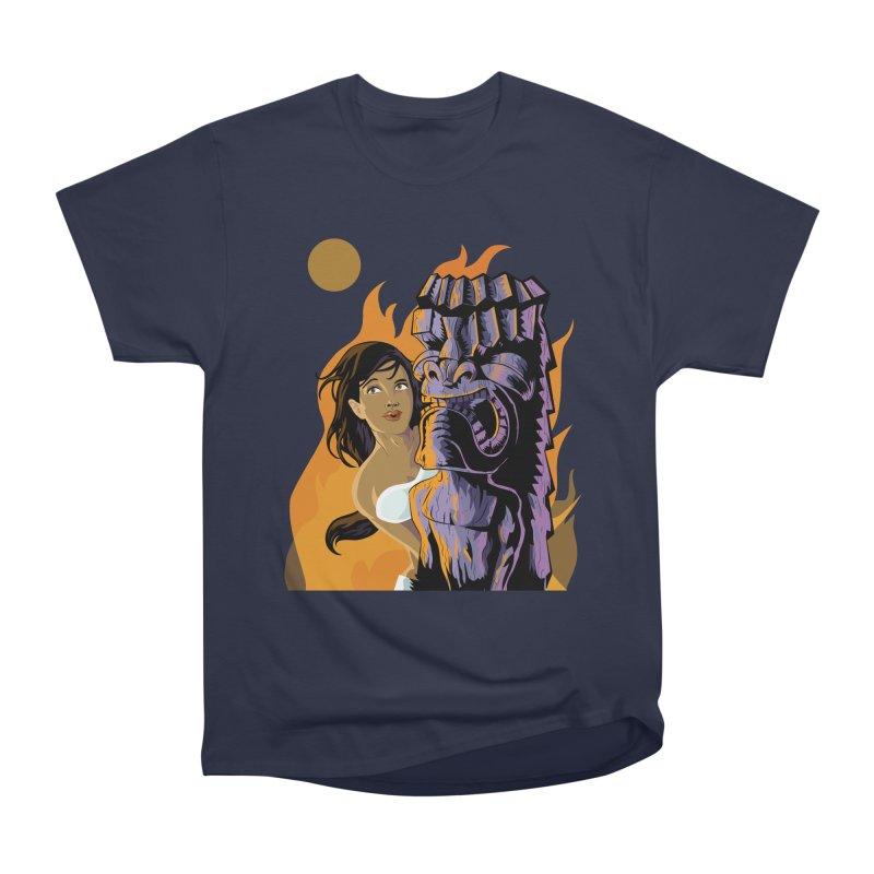 Wahine, Moon And Fire Women's Classic Unisex T-Shirt by Zerostreet's Artist Shop