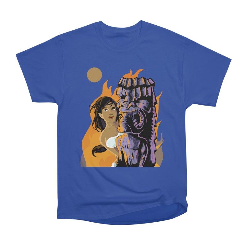 Wahine, Moon And Fire Men's Classic T-Shirt by Zerostreet's Artist Shop