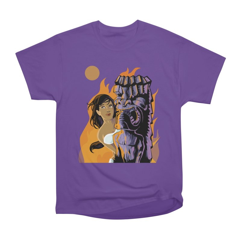 Wahine, Moon And Fire Men's Classic T-Shirt by Zerostreet's Artist Shop