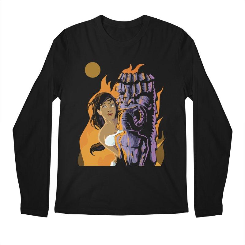 Wahine, Moon And Fire Men's Longsleeve T-Shirt by Zerostreet's Artist Shop