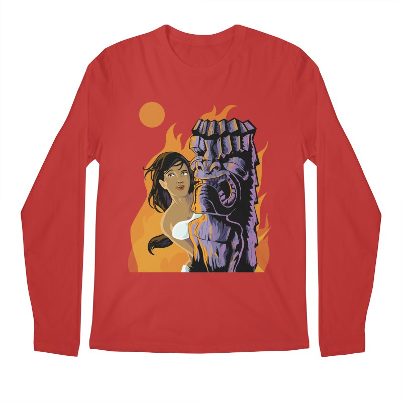 Wahine, Moon And Fire Men's Longsleeve T-Shirt by Zerostreet's Artist Shop