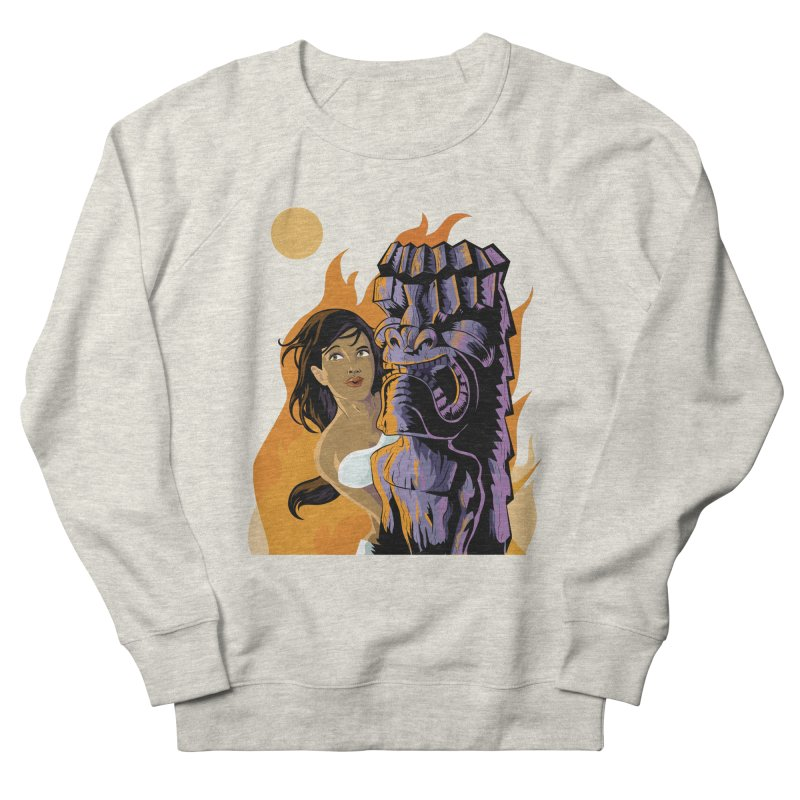 Wahine, Moon And Fire Men's Sweatshirt by Zerostreet's Artist Shop