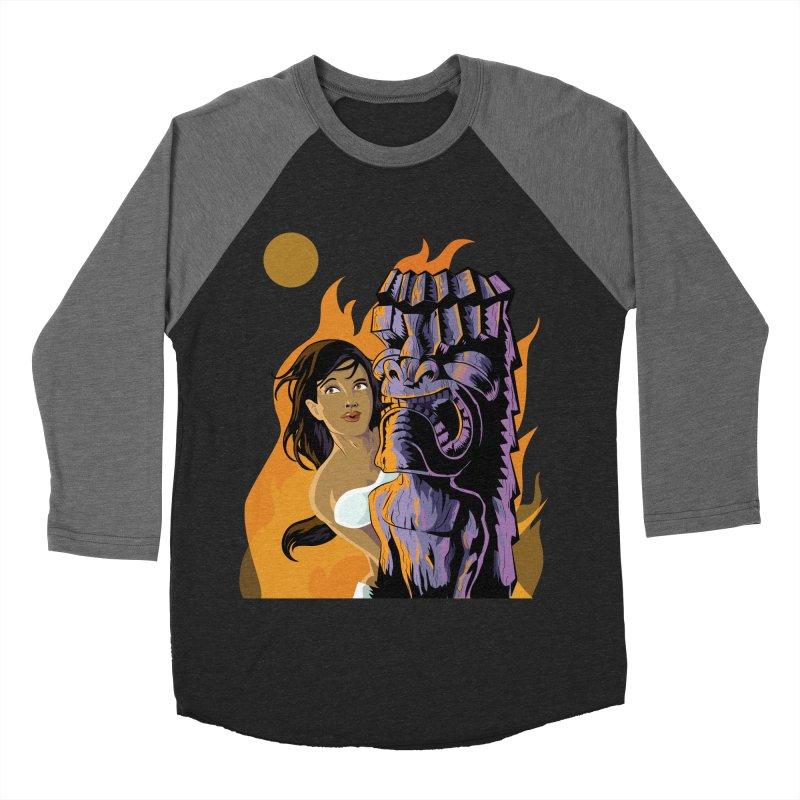 Wahine, Moon And Fire Men's Baseball Triblend T-Shirt by Zerostreet's Artist Shop