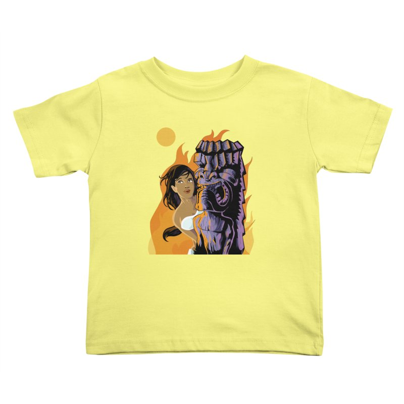 Wahine, Moon And Fire Kids Toddler T-Shirt by Zerostreet's Artist Shop