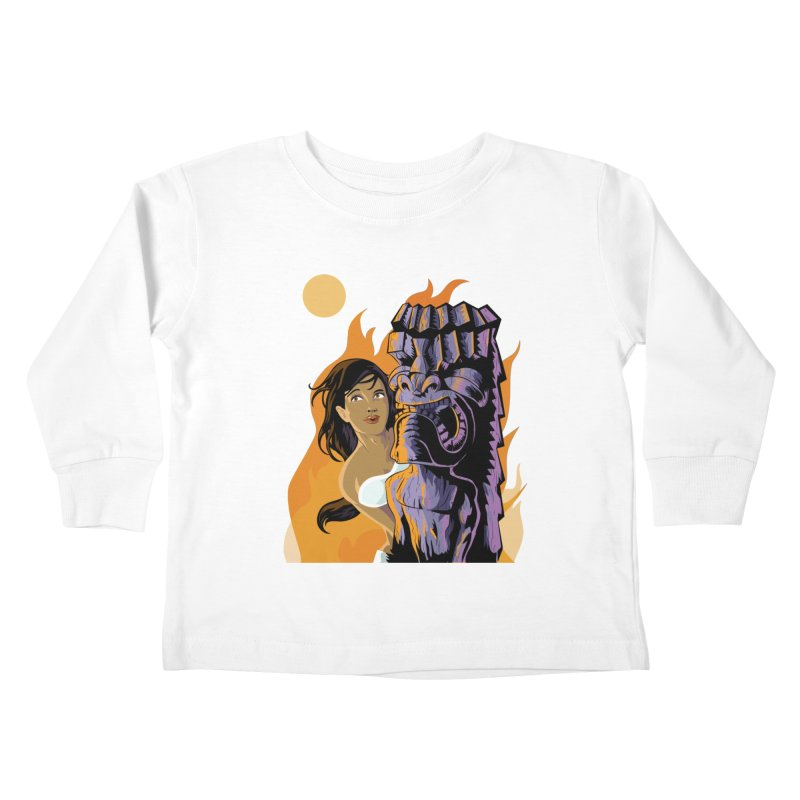 Wahine, Moon And Fire Kids  by Zerostreet's Artist Shop