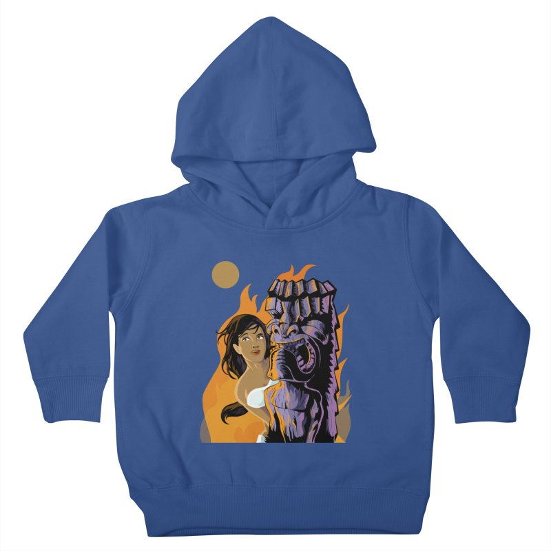 Wahine, Moon And Fire Kids Toddler Pullover Hoody by Zerostreet's Artist Shop