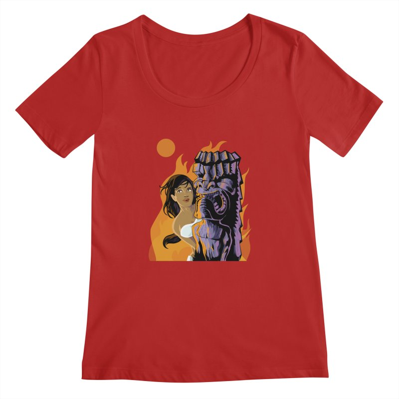 Wahine, Moon And Fire   by Zerostreet's Artist Shop