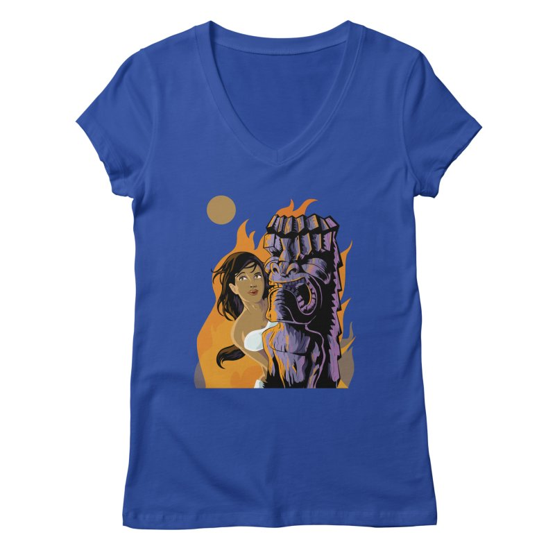 Wahine, Moon And Fire Women's  by Zerostreet's Artist Shop