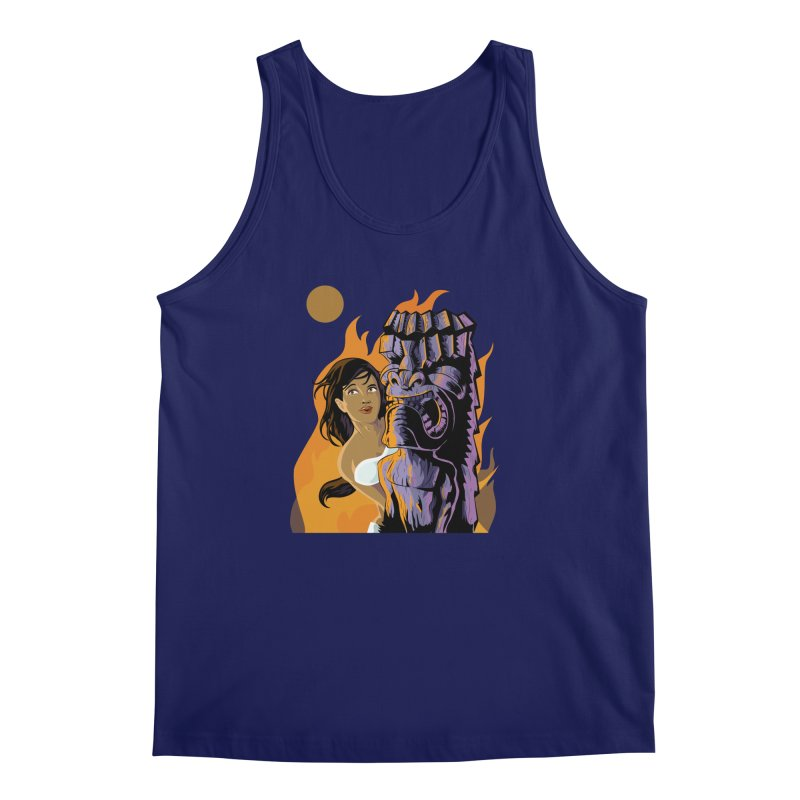 Wahine, Moon And Fire Men's Tank by Zerostreet's Artist Shop