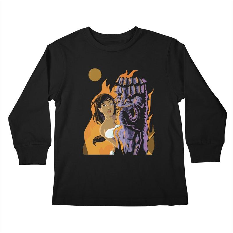 Wahine, Moon And Fire Kids  by Zerostreet's Artist Shop