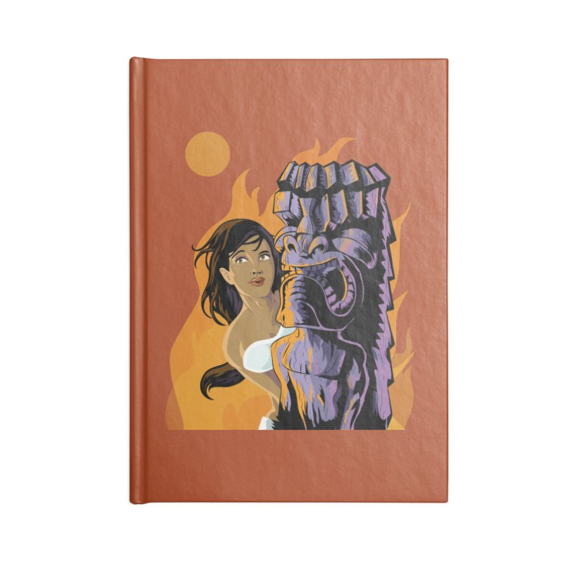 Wahine, Moon And Fire Accessories Notebook by Zerostreet's Artist Shop