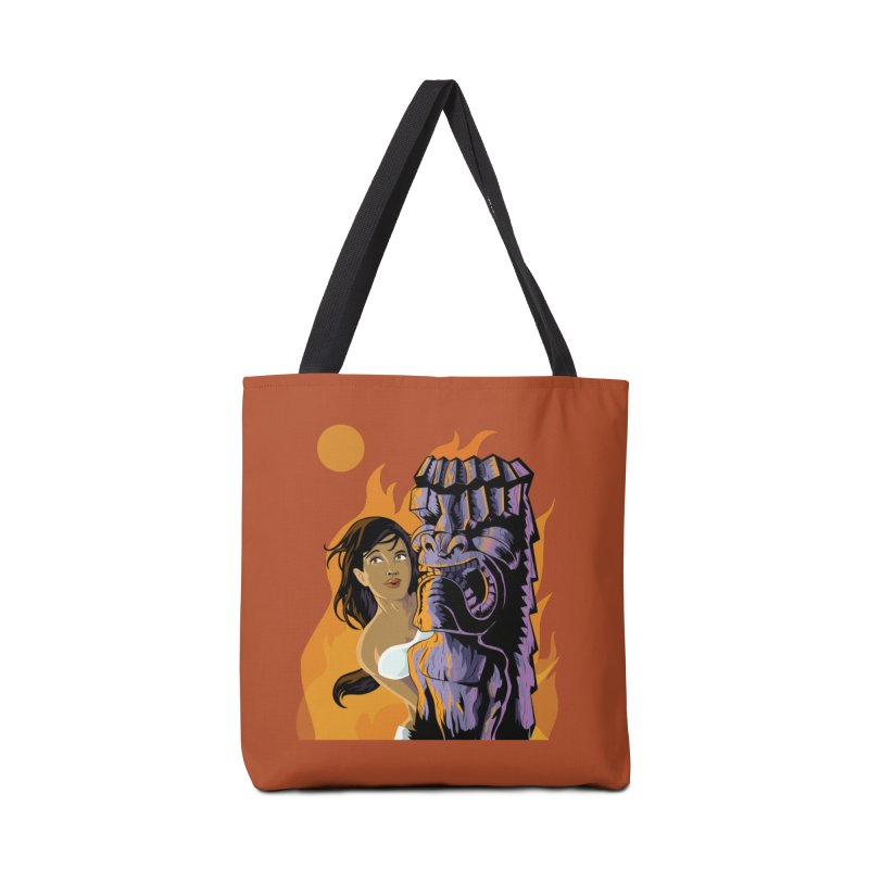 Wahine, Moon And Fire Accessories Bag by Zerostreet's Artist Shop