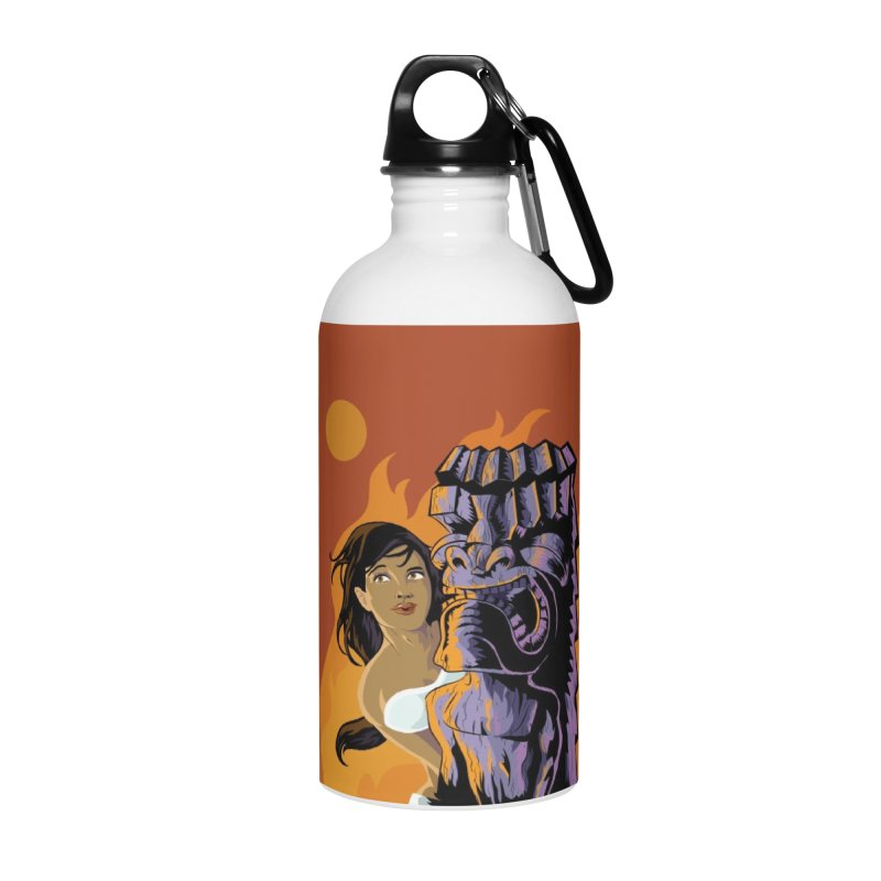 Wahine, Moon And Fire Accessories Water Bottle by Zerostreet's Artist Shop