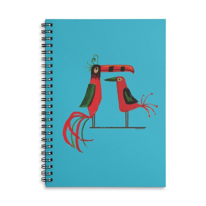Tiki Birds Accessories Notebook by Zerostreet's Artist Shop
