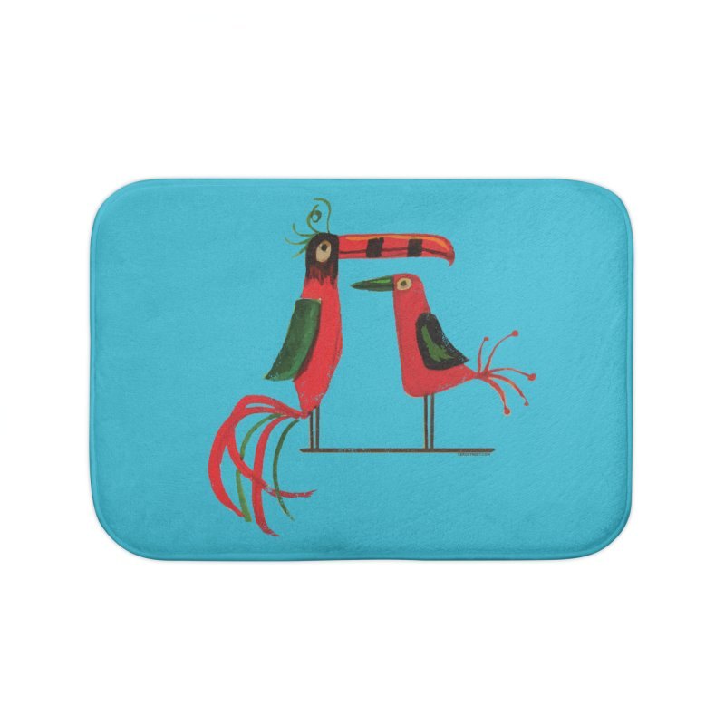 Tiki Birds Home Bath Mat by Zerostreet's Artist Shop