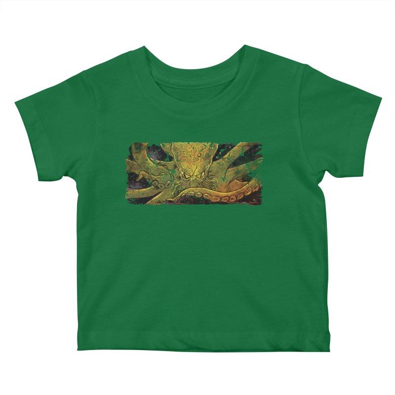 Kraken Rising Kids Baby T-Shirt by Zerostreet's Artist Shop