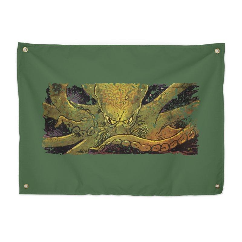 Kraken Rising Home Tapestry by Zerostreet's Artist Shop