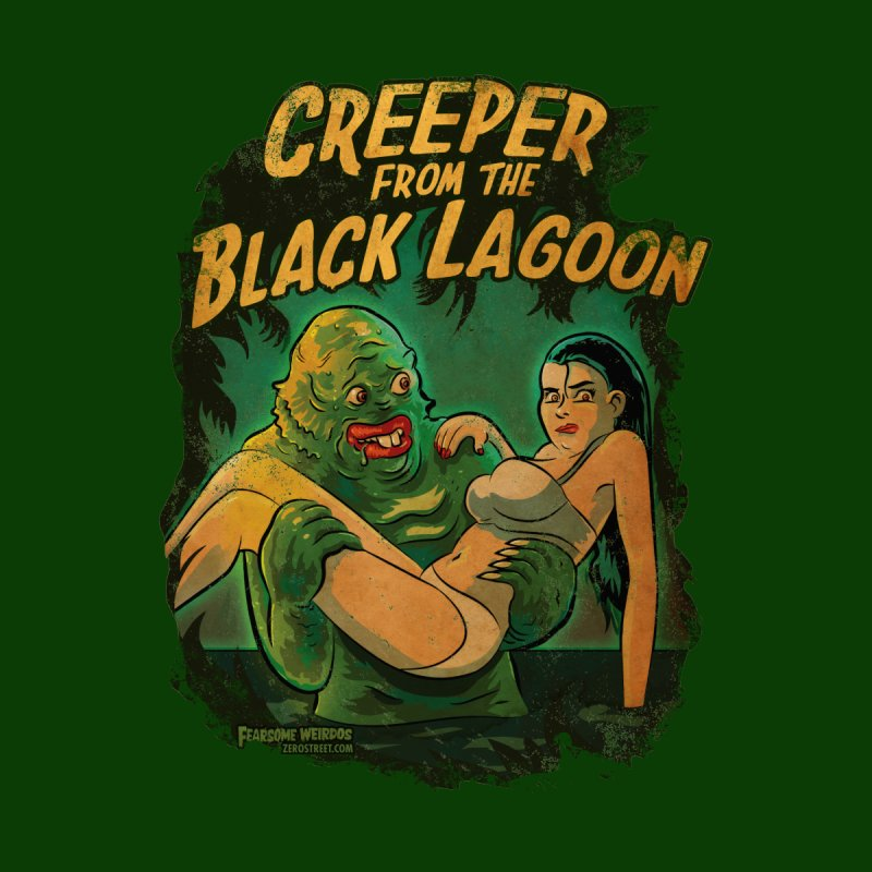 Creeper From The Black Lagoon Home Bath Mat by Zerostreet's Artist Shop