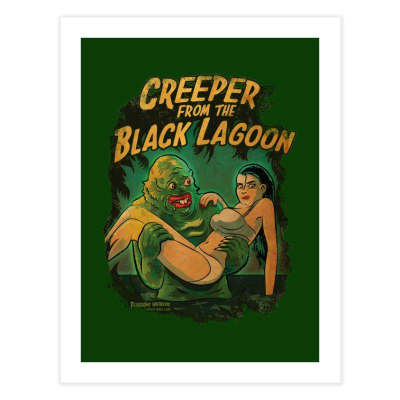 Creeper From The Black Lagoon Home Fine Art Print by Zerostreet's Artist Shop