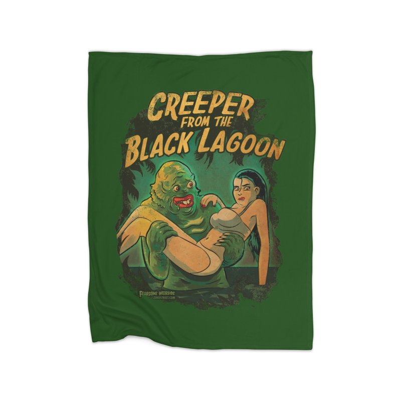Creeper From The Black Lagoon Home Blanket by Zerostreet's Artist Shop