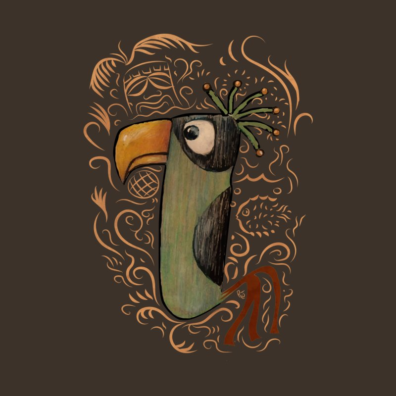 Tiki Bird #2 Men's T-Shirt by Zerostreet's Artist Shop