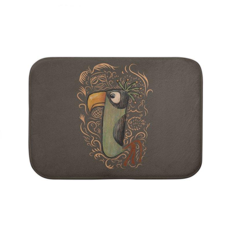 Tiki Bird #2 Home Bath Mat by Zerostreet's Artist Shop
