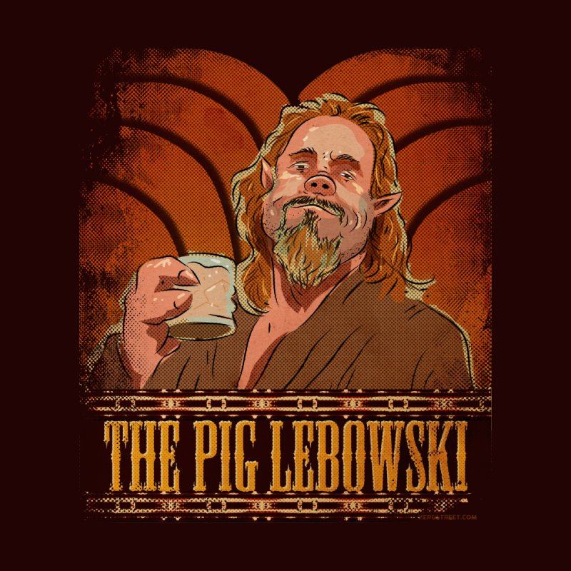 The Pig Lebowski Men's T-Shirt by Zerostreet's Artist Shop
