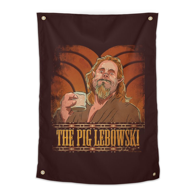 The Pig Lebowski Home Tapestry by Zerostreet's Artist Shop