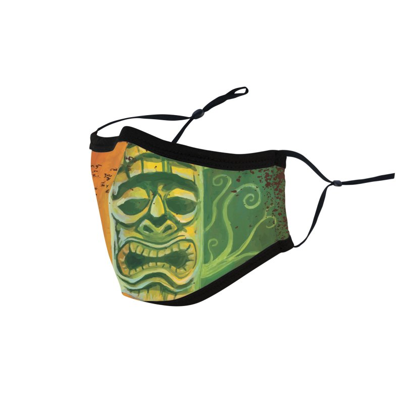 Tiki And Hibiscus Accessories Face Mask by Zerostreet's Artist Shop