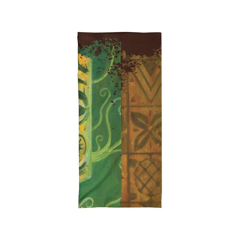 Tiki And Hibiscus Accessories Neck Gaiter by Zerostreet's Artist Shop