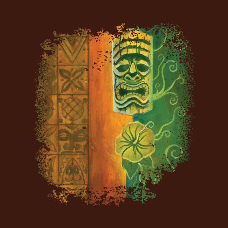 Tiki And Hibiscus Men's T-Shirt by Zerostreet's Artist Shop