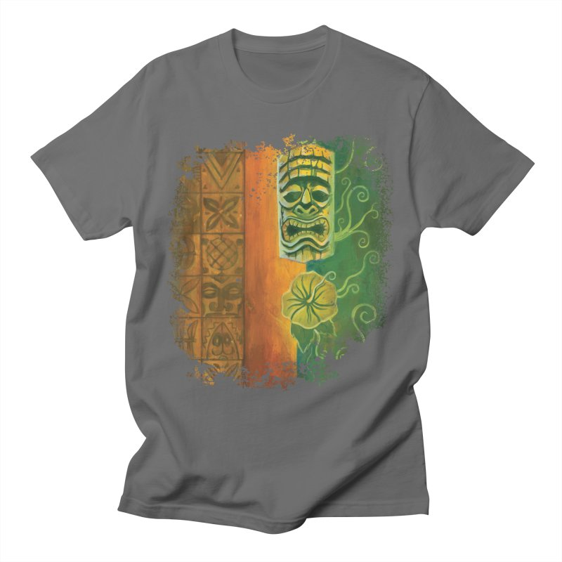 Tiki And Hibiscus Men's T-Shirt by Zerostreet's Artist Shop