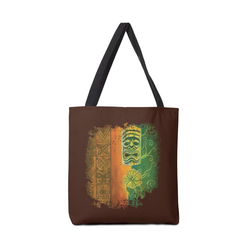 Tiki And Hibiscus Accessories Bag by Zerostreet's Artist Shop