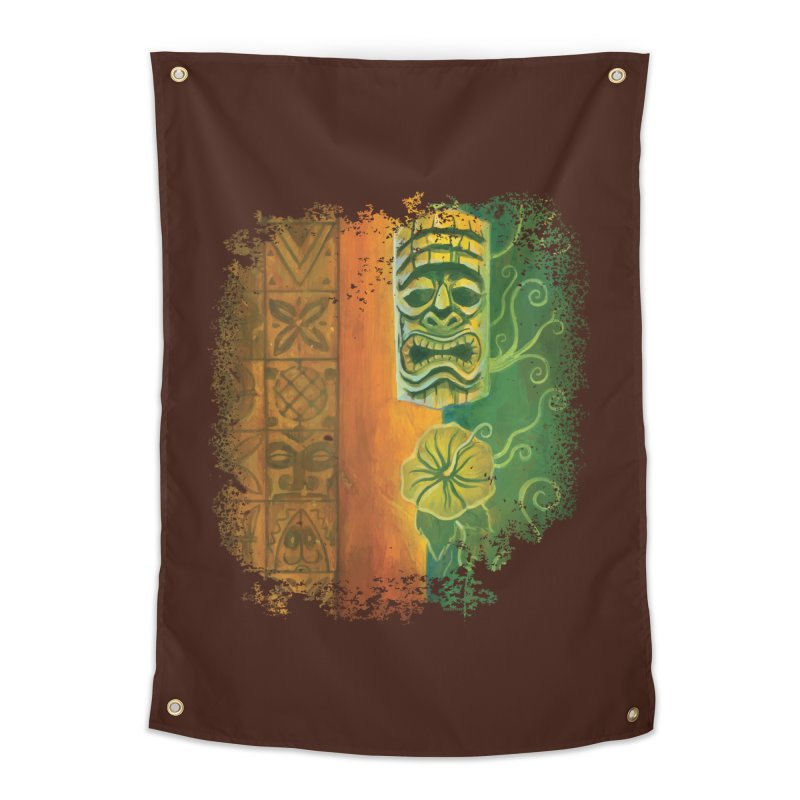 Tiki And Hibiscus Home Tapestry by Zerostreet's Artist Shop
